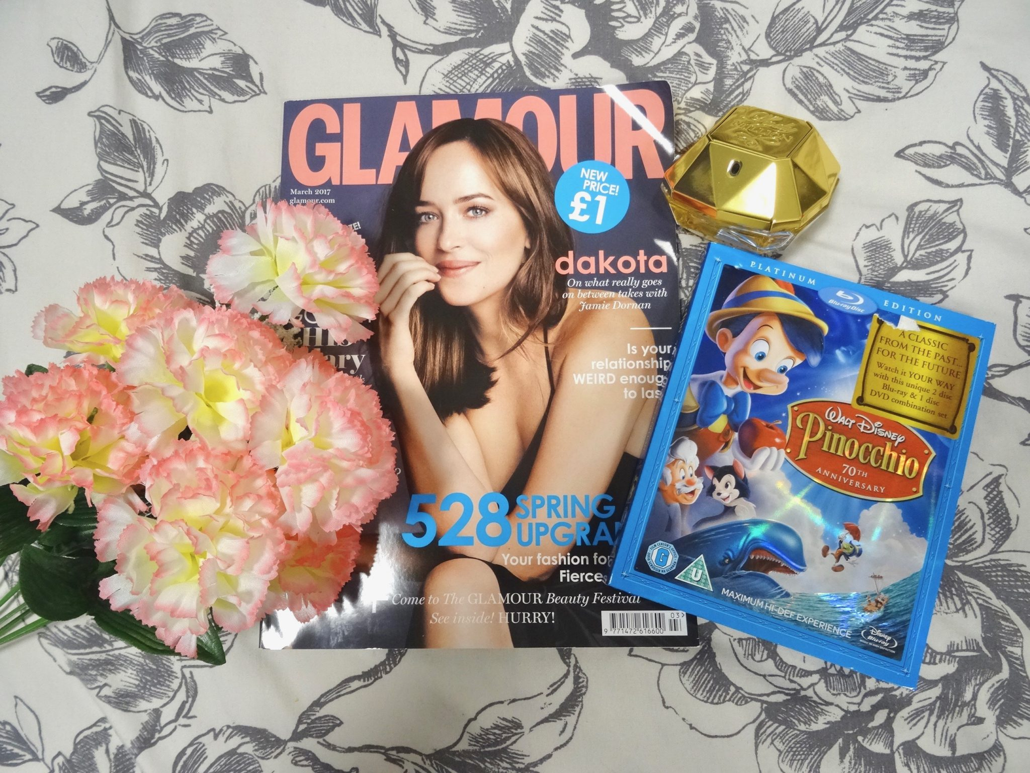 Monthly Favourites - Glamour Magazine - Disney's Pinocchio - Paco Robanne Lady Million