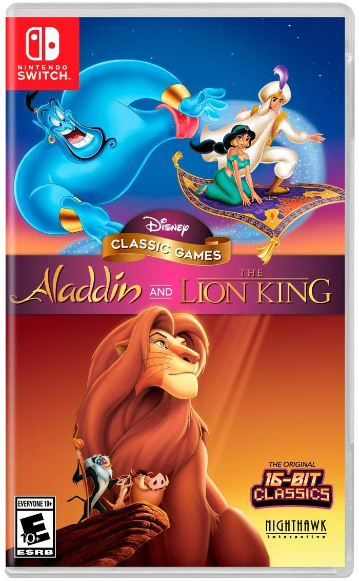 Cover art for Lion King & Aladdin game