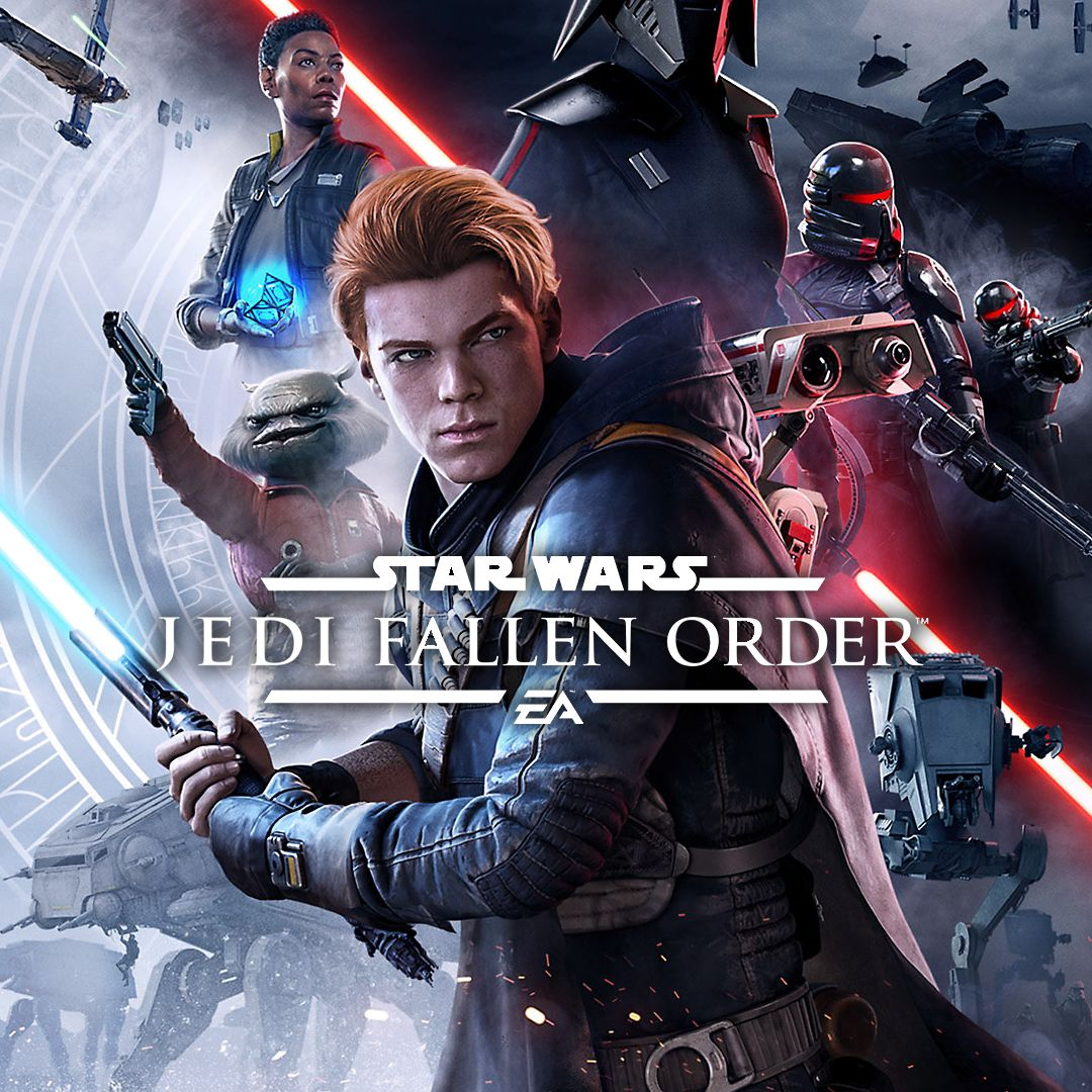 Cover art for Fallen Order, featuring a Jedi on the front cover