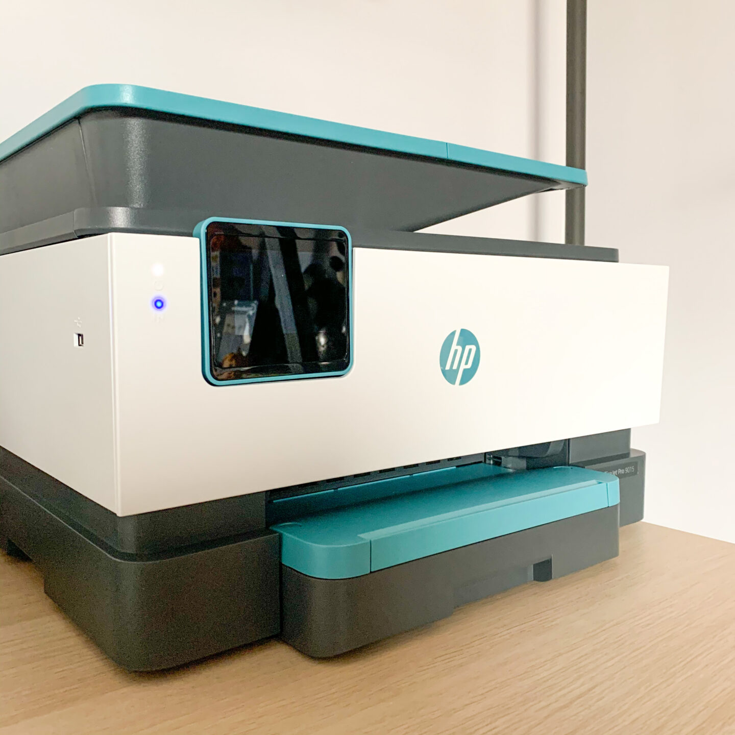 A photo of a HP Officejet Pro 9015 printer